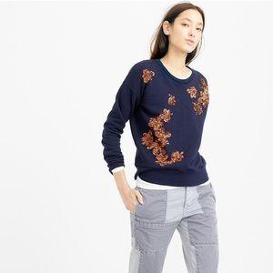 NEW! J. Crew Sequined Floral Sweatshirt